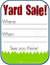 Free Yard Sale Signs The Red Kitchen How To Host A Successful Yard Sale And