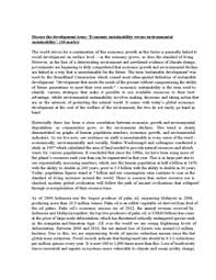 essay economic versus environmental sustainability document in  page 1