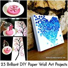 paper wall art projects photo credit homesthetics on paper wall art crafts with 23 brilliant diy paper wall art projects lil moo creations