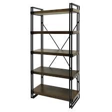 metal book shelves. Plain Metal Shop Industrial Design Dark Gun Metal Book Shelf  Mahogany Shelves Free  Shipping Today Overstockcom 20730898 Inside R