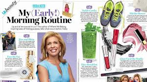 hoda reveals her morning routine in us weekly