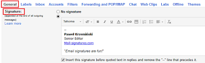 How To Add Or Change An Email Signature In Gmail G Suite
