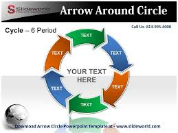 Arrow Ring Chart Powerpoint Arrow Circle Powerpoint Template Youtube