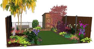 Small Picture Design Visuals for a Rear Garden Garden Border Ideas