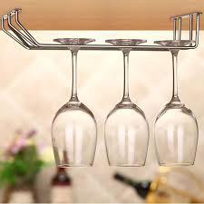 stainless steel wine glass holder under cabinet wall wine rack storage organizer stemware racks 1