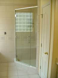 custom 3 8 heavy frameless glass hinged off panel with special chrome handle
