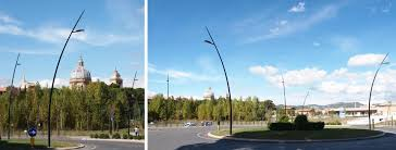 project for the new led street lighting in assisi italy with italo designed by aec eco lighting
