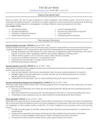 Example Of Administrative Assistant Resume Office Administrative