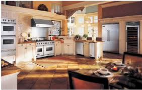 farm kitchen design. Perfect Design 51_country_farmhouse_kitchen_design_ideas_stainless_steel_appliances_leaded_windows With Farm Kitchen Design