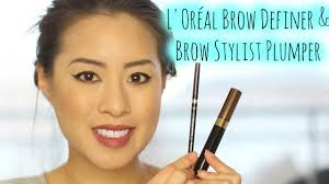 l oréal brow definer brow stylist plumper first impressions application review you
