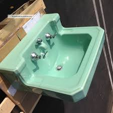 vintage american standard seafoam green bathroom sink porcelain integrated spout