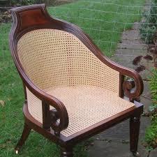 georgian cane library chair