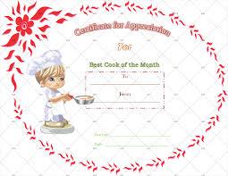 Certificate Of Appreciate Best Cooking Appreciation Certificate Template Gct