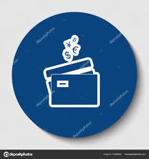 credit cards sign with currency symbols vector white contour icon in dark cerulean circle