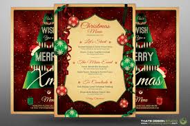 christmas menu template v by thats design store com