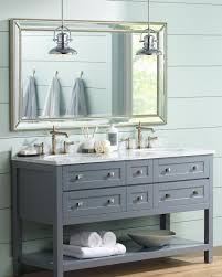 over bathroom cabinet lighting. Farmhouse Style Bathroom With Pendant Lighting Over Bathroom Cabinet Lighting
