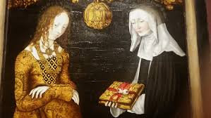 saints christina and ottilia by lucas cranach the elder 1506