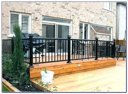 deck railing excellent aluminum systems with ideas home depot glass railings pros plexiglass thickness for