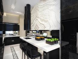 Admirable Kitchen With Black Kitchen Cabinets Combined L Shape