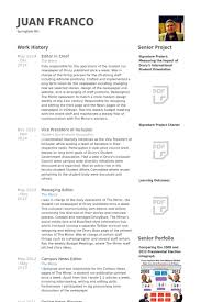 Editor In Chief Resume samples