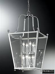 franklite atrio 8 light chrome lantern pendant ceiling fitting la7003 8