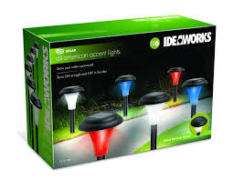 Ideaworks Round Solar Lights Details About Ideaworks Red White And Blue Solar Accent Lighting