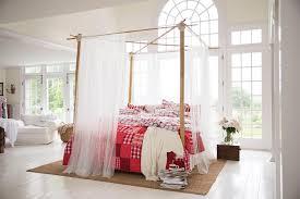 Romantisches Himmelbett Im Lichtdurchfluteten Schlaf