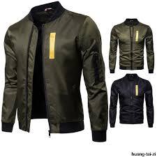 grandwish er jacket men pilot with patches green both side wear thin pilot er jacket men wind breaker men m 5xl black leather jackets cotton jacket
