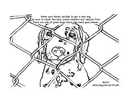 Small Picture Kids Coloring Page A Dalmation to Adopt Dog Paw Print