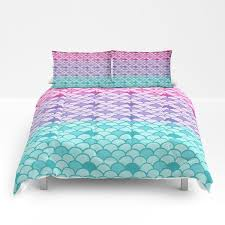 mermaid scales comforter or duvet cover set twin full extra large king size down comforters