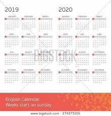 Basic Calendars Calendar Years 2019 Vector Photo Free Trial Bigstock