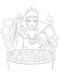 Disney Villains Coloring Pages Villains Coloring Pages Evil Queen