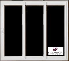 9 patio sliding glass door replacement by simonton prism platinum series