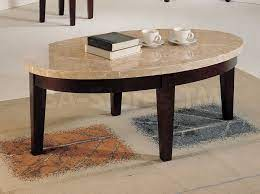 britney walnut white oval coffee table