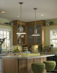 awesome 2 kitchen island pendant lighting design in satin nickel finish