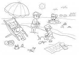 Vacanze Bambini Disegni Da Colorare Bambini In Spiaggia Blogmammait
