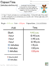 T Chart Math Worksheets Snow Much Fun With Elapsed Time Elapsed Time Teaching