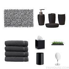 Black Bathroom Accessories Black Bathroom Rugs Elegant Bathroom Rug Sets Design In Maroon
