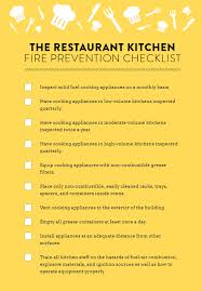 the restaurant kitchen fire prevention checklist guide