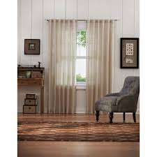 linen curtain panels. Home Decorators Collection Semi-Opaque Taupe Faux Linen Back Tab Curtain Panels