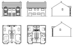 chic ideas plans for two y houses in ireland 4 house