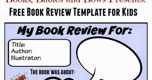 Free Book Report Templates Books Babies And Bows Free Book Review Template For Kids