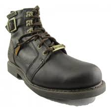 harley davidson harrison men brown leather biker boots hooked lace up buckle