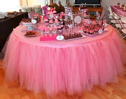 birthday round table decoration tulle tutu table skirt for baby party decor total length 2 x