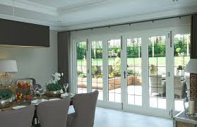 timber bifold doors with leaded light windows white internal by mumford wood