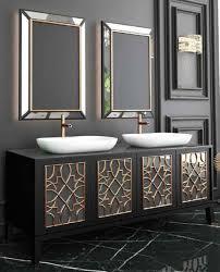 Casa Padrino Luxus Badezimmer Set Schwarz Gold Weiß 1