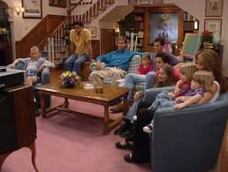 The  quot Full House quot  Victorian in San Francisco Todaycast of Full House watching TV in Tanner living rm