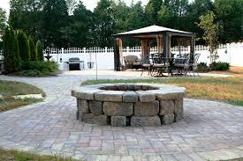 paver patio with fire pit u wood pavers do it yourself bluestone patio pavers home