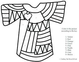 Joseph Coat Of Many Colors Coloring Page New Joseph And His Coat