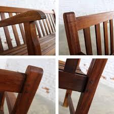 teak outdoor bench. Vintage Windsor Natural Teak Outdoor Three-Seat Bench For Sale At 1stdibs